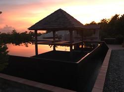 photo piscine morne rouge couchant