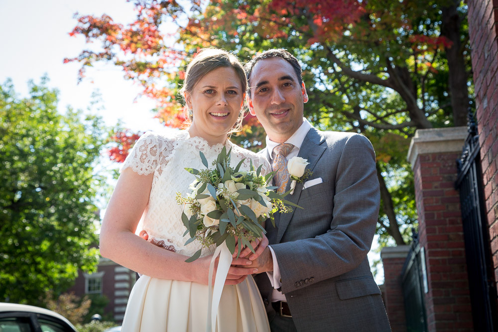 Myke and Elina on their wedding day