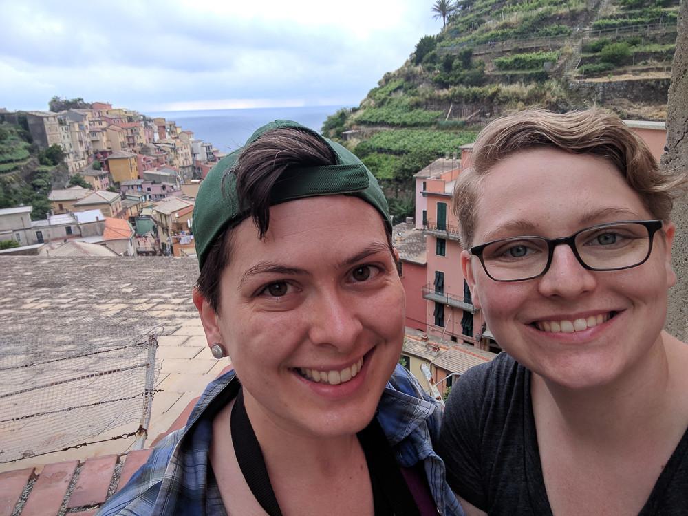 Anna and Julie in Manarola