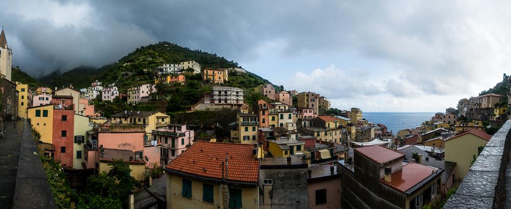 Rainstorm in Riomaggiore, Cinque Terre