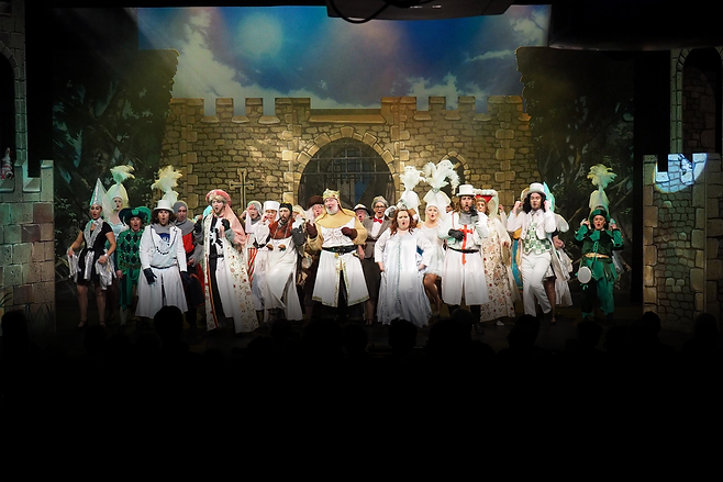 The Zodiac perform Spamalot at The Brindley Theatre, Runcorn.