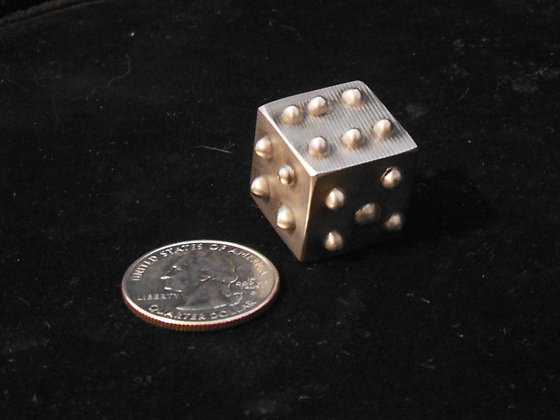 "3/4"" Solid Stainless Steel Lumpy Dice."