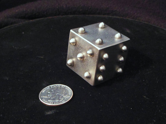 "1.25"" Solid Stainless Steel Lumpy Dice"