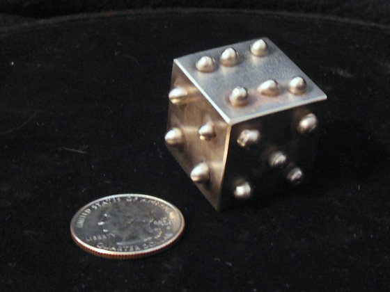 """1"""" Solid Stainless Steel Lumpy Dice"""