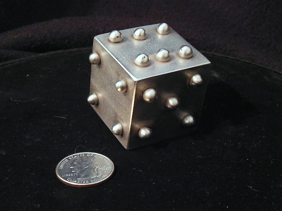 """1.5"""" Solid Stainless Steel Lumpy Dice"""
