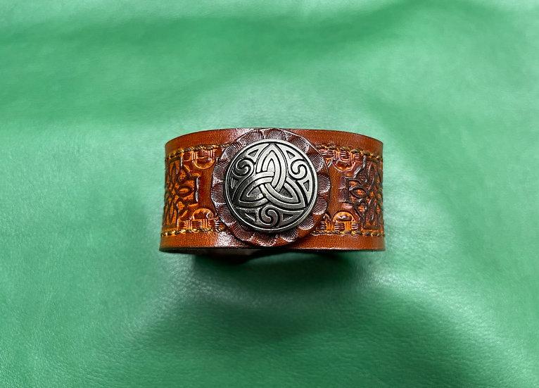 """1 1/4"""" Celtic Bracelet size 7 - 7.5"""