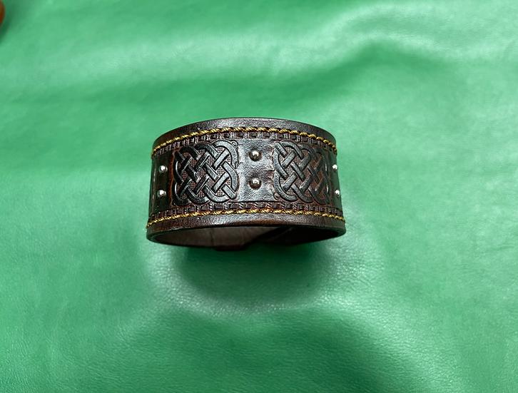 """1 1/2"""" Celtic Bracelet size 8-8.5"""