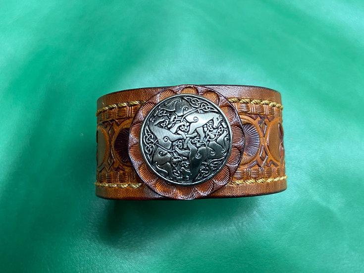 """1 1/4"""" Celtic Bracelet size 6.5 - 7"""