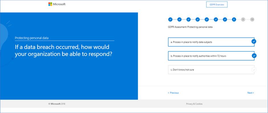 Microsoft's GDPR Self-Assessment