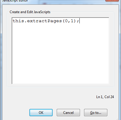 Action to Extract Pages from Multiple PDFs