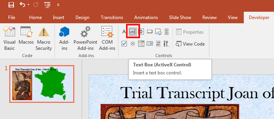 Scrolling Text Boxes on PowerPoint Slides
