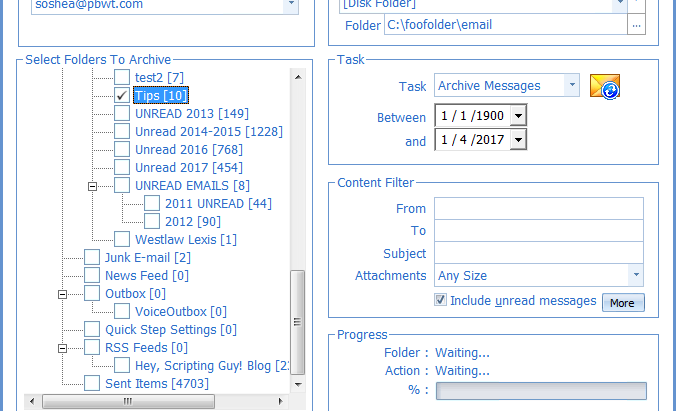 Bulk export emails from Outlook named with specified metadata fields