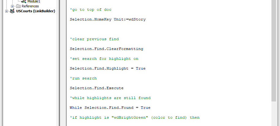 Using VBA Code to Export Highlighted Text of a Particular Color