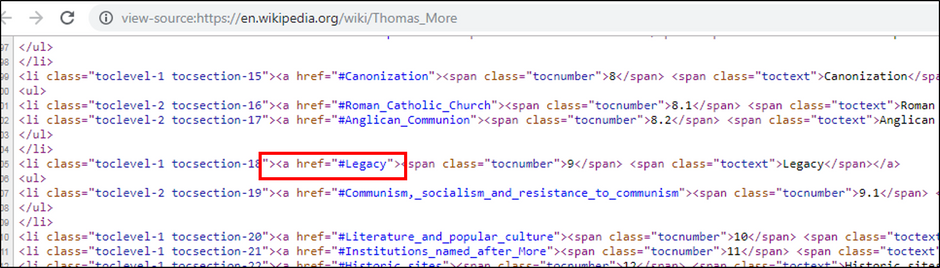 Jump to a scroll position on a web page