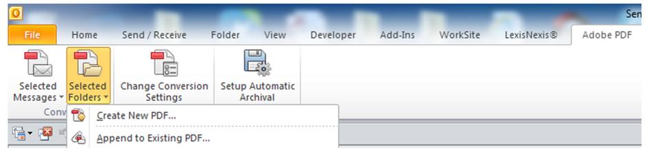 Converting Emails to PDF Portfolio