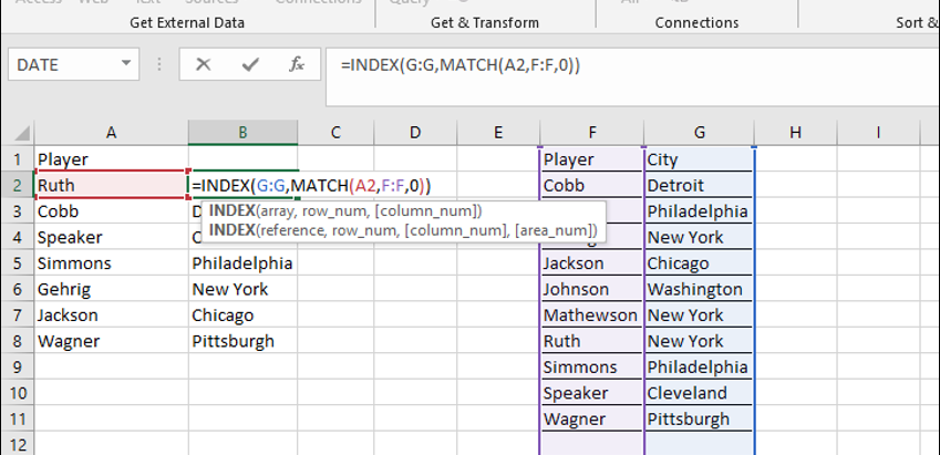 INDEX MATCH divided is faster than Excel