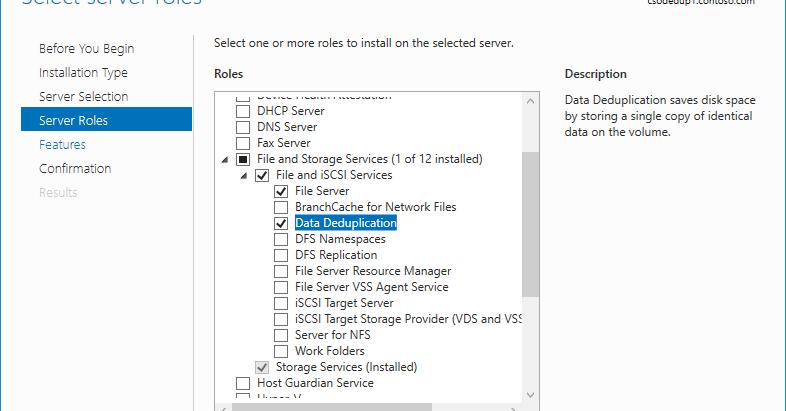 Data Deduplication on Windows Servers