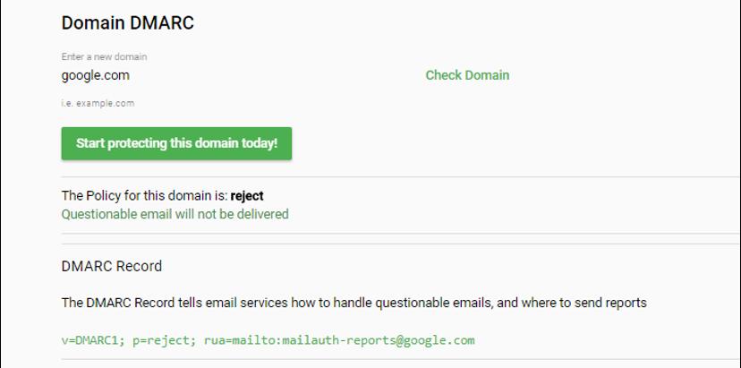 DMARC Email Authentication
