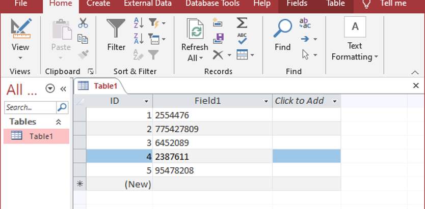 Running Regex searches in an Access database