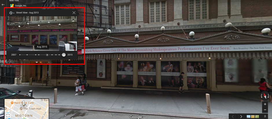 Going Back in Time with Google Street View