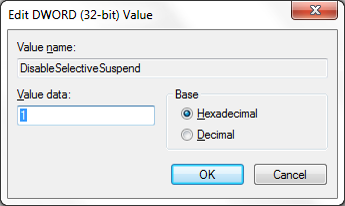 Disabling the Selective Suspend Feature to Bring USB ports back to life