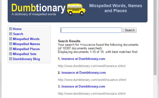 Dumb Dictionary