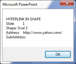 Which Slides in a PowerPoint presentation have links to other files