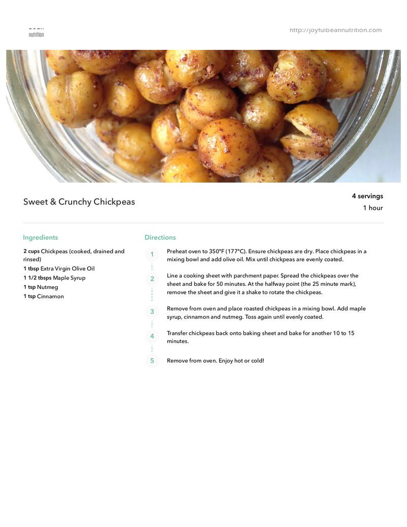 Sweet & Crunchy Chickpeas