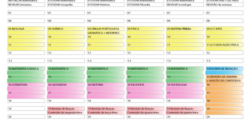 Planner para estudar sozinho durante a quarentena