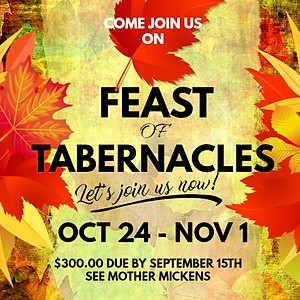 2018 Feast of Tabernacles