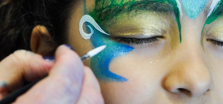 Mermaid Being Painted.jpg