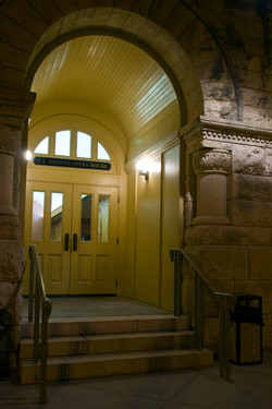 Side Door at Night