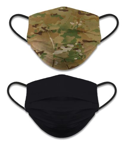 Reversible face mask. Camo-black. NOT CERTIFIED