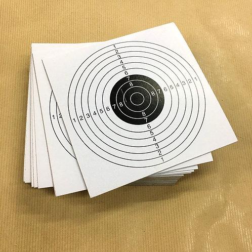 100x Card Targets 14cm
