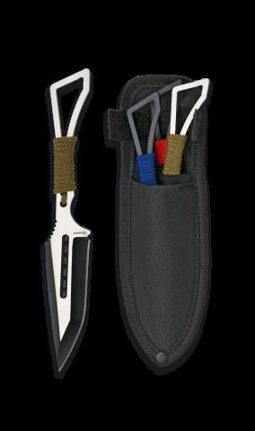Set of 3 Skeleton Throwing Knives