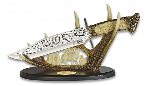Wolf Knife on Stand