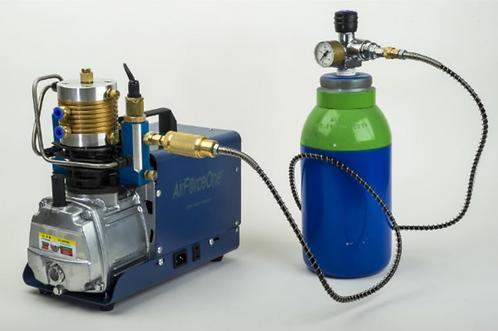 """AirForceOne ® """"AirRamtm"""" MK II 300 BAR Portable PCP Airgun Compressor."""