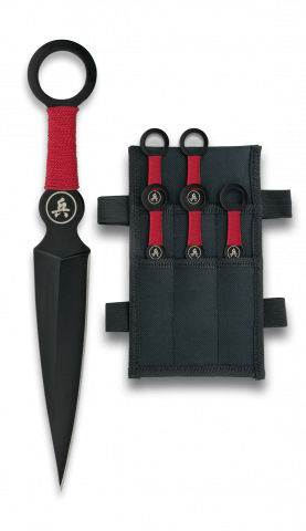 Set of 6 Red Band Throwing Knives