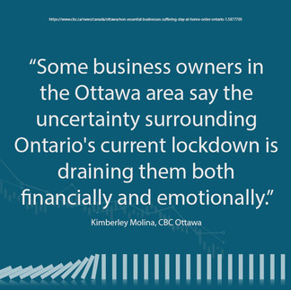 Small Business - Ottawa is Financially and Emotionally Drained