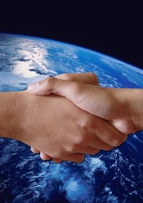 Earth Shake Hands