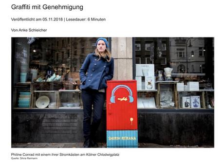 """WELT AM SONNTAG: """"Graffiti mit Genehmigung"""" (Artikel)"""