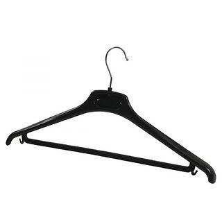 Alba-Black-Plastic-Coat-Hanger-Pack-of-2
