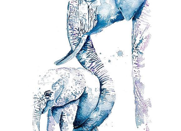 Elefant: mor og barn