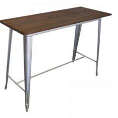 Tolix bar leaner - silver $50