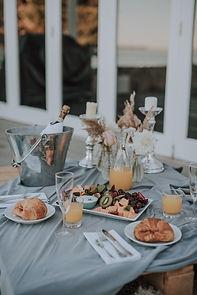 Rivers End Retreat bridal breakfast