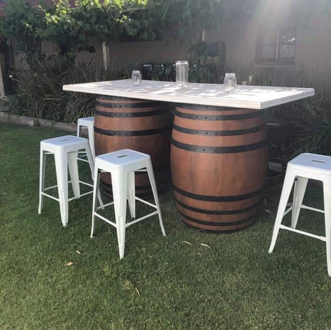 Double Barrel table package $150