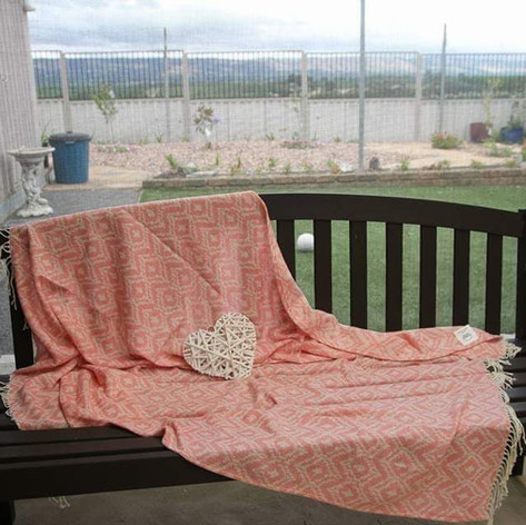 'Aztec Rose' throw blanket $15