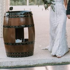 Burgundy Wine barrel $45