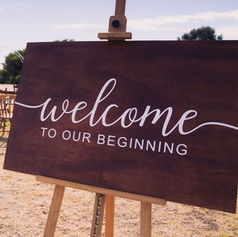 'Welcome brown' sign $25
