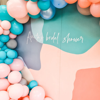 Bridal Shower Balloon Garland_White Orchid Events